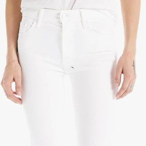 MOTHER THE INSIDER CROP WHITE STRAIGHT LEG 27 NWT